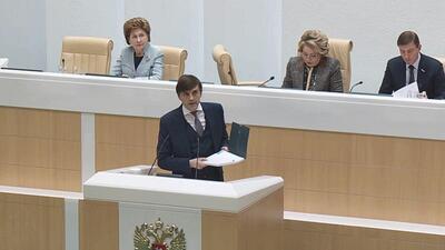 Сергей Кравцов выступает с докладом в Совфеде