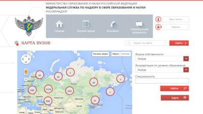 Состоялся запуск информационных систем «Карта вузов» и «Мониторинг»